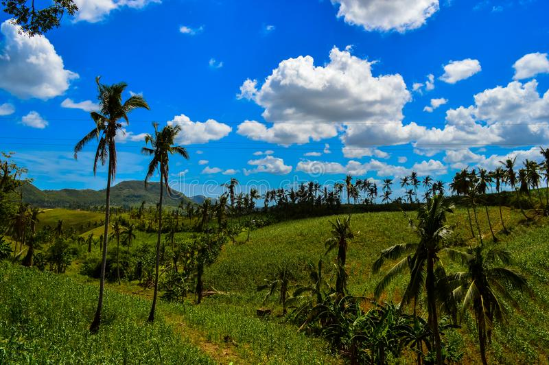 Amazing view over Cebu Island, Philippines. View over Cebu Island, Philippines stock image