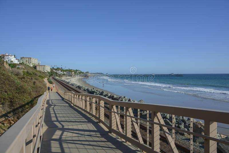 Amazing view of pacific coast railroad pier in Linda lane royalty free stock photo