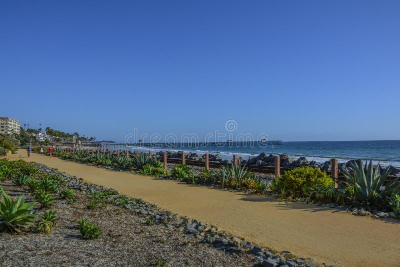 Amazing view of pacific coast railroad pier in Linda lane stock photos