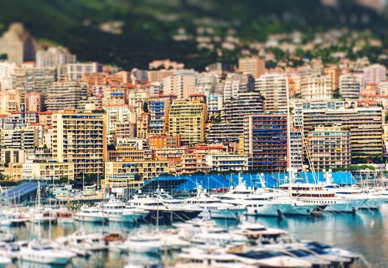 Amazing view of Principality of Monaco stock images