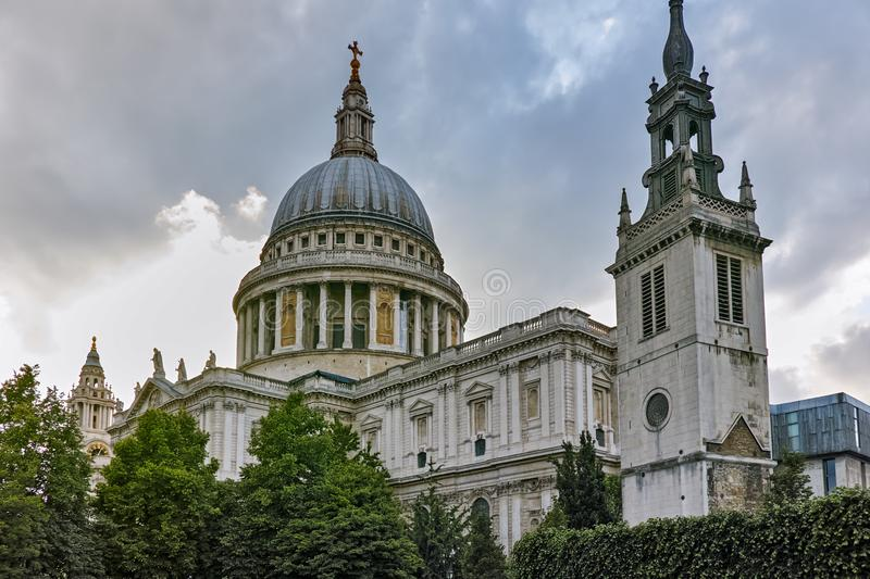 Amazing view of St. Paul Cathedral in London, Great Britain royalty free stock images