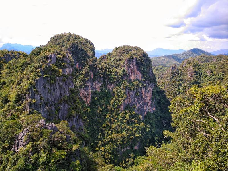 Amazing view from Tiger Cave in Krabi. Thailand royalty free stock image
