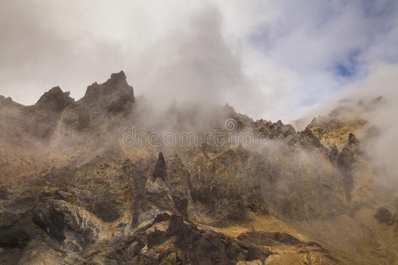 Amazing views of the volcanic landscape. stock images