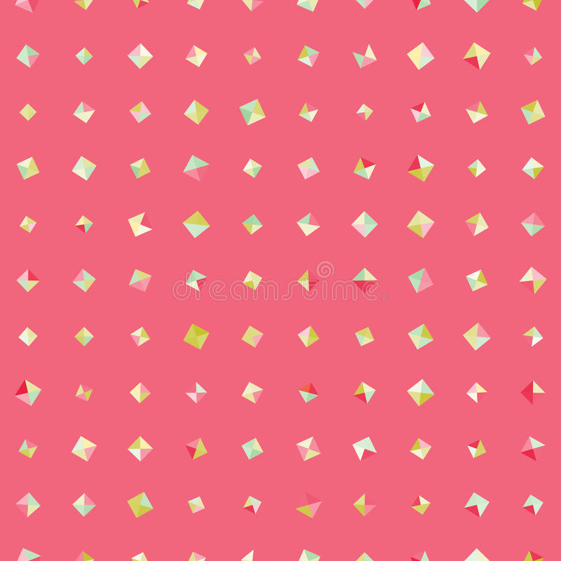 Amazing vintage pink element pattern. Amazing seamless vintage colorful texture stock illustration