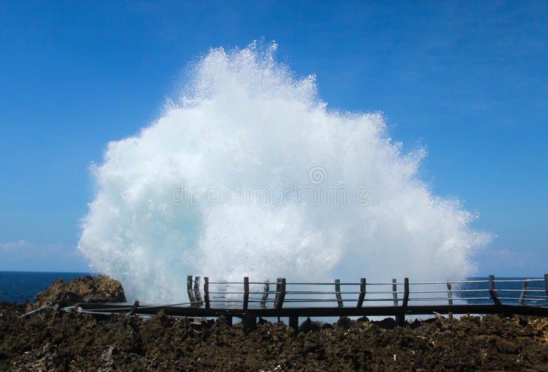 Amazing water blow royalty free stock photography