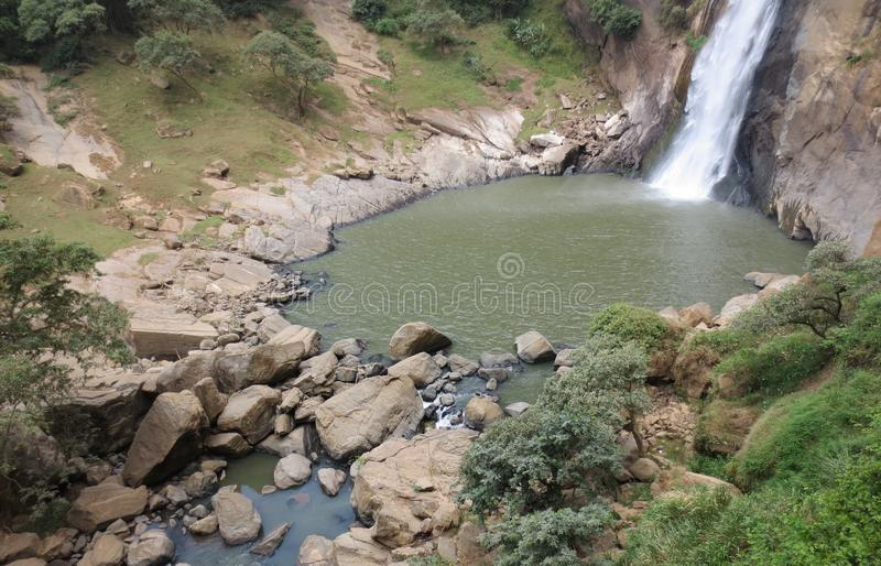 Amazing waterfall royalty free stock photography
