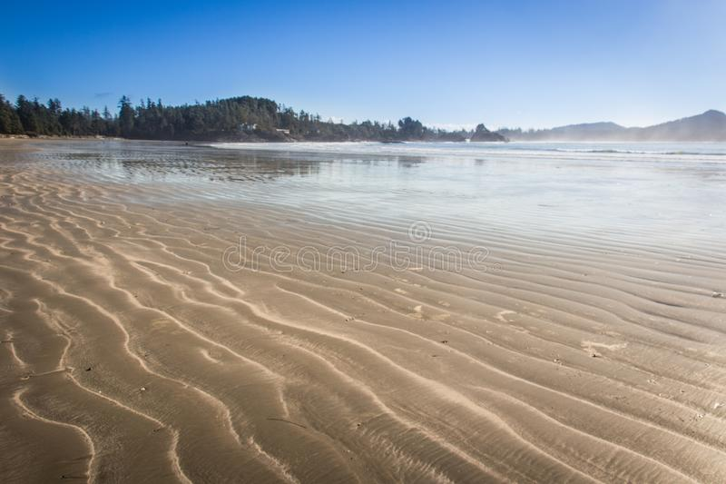 Tofino beach west coast of Vancouver Island royalty free stock images
