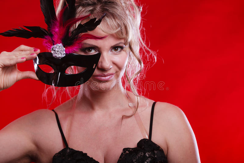 Download Amazing Woman With Carnival Mask. Stock Photo - Image: 83712302