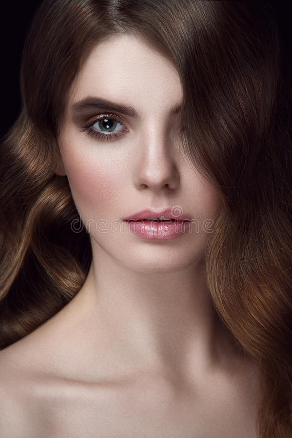 Amazing women portrait. stock photo