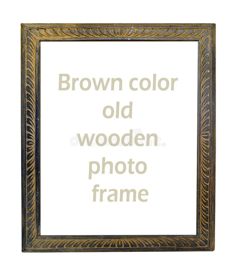 Amazing wooden brown color photo frame royalty free stock photography