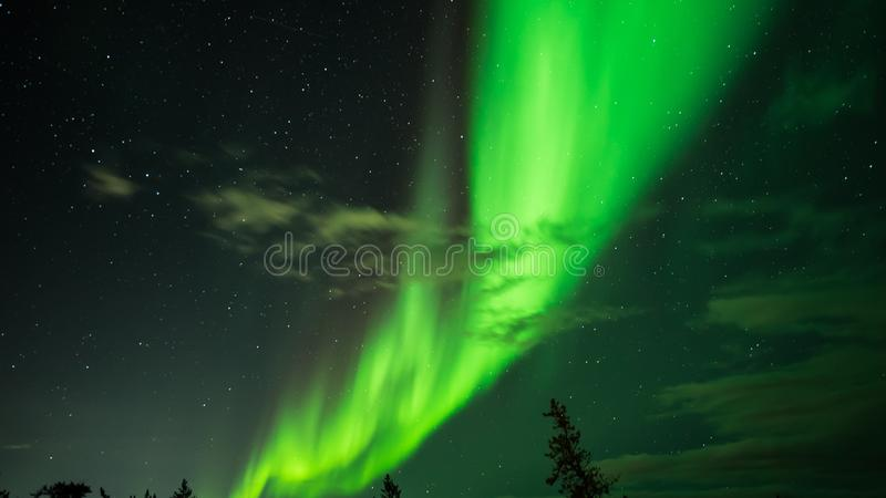 Amazing Yellowknife stock photo