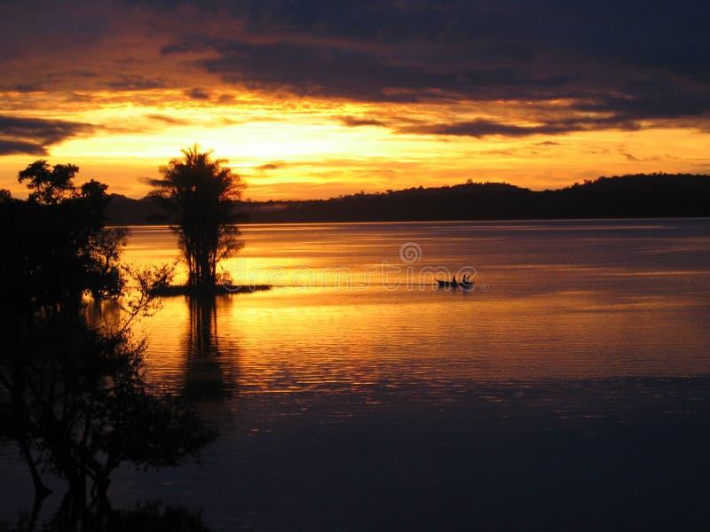Amazon (1) wschód słońca obraz stock