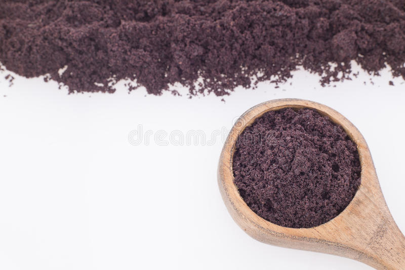 The amazon acai fruit Euterpe oleracea. The acai is a fruit of characteristic very dark purple color royalty free stock image