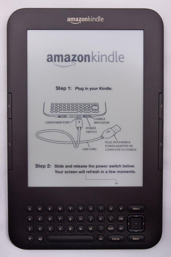 Amazon accende il E-Lettore fotografia stock