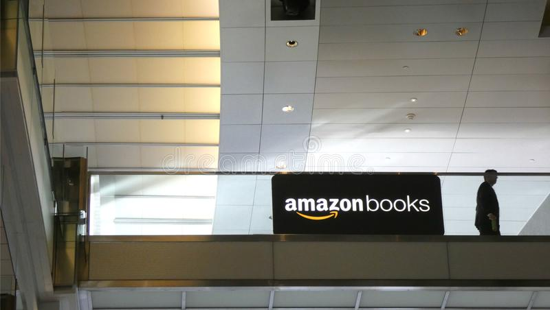 Amazon Books. An Amazon Books store in the Time Warner Center, in New York City stock images