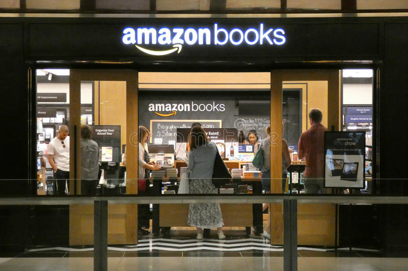 Amazon Books. An Amazon Books store in the Time Warner Center, in New York City royalty free stock photo