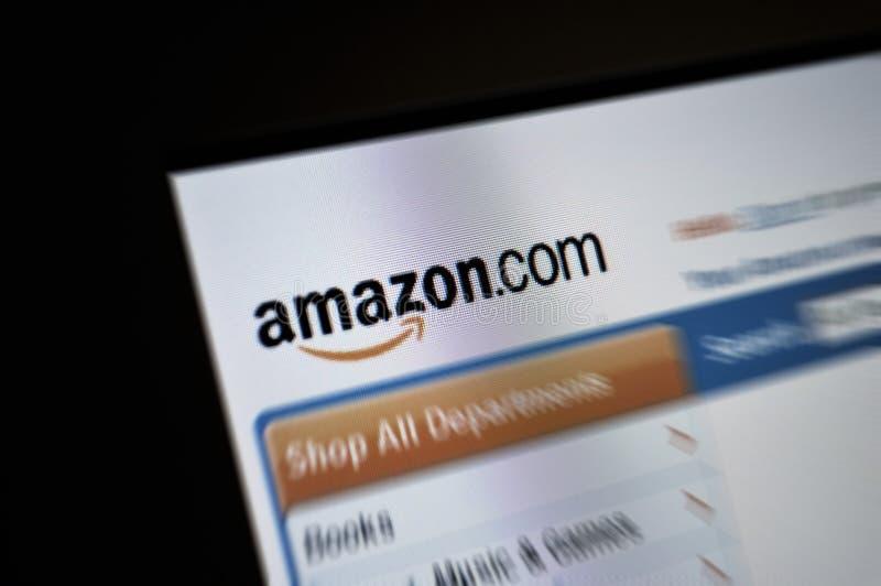 amazon com internetów głównej strony ekran zdjęcie royalty free