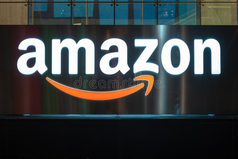 Amazon Company Logo or Sign, Toronto, Canada stock photo