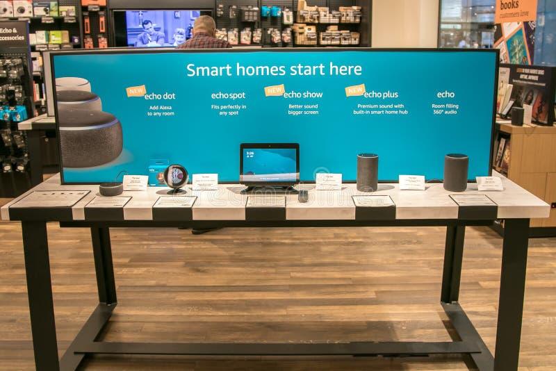 Amazon echo units royalty free stock image