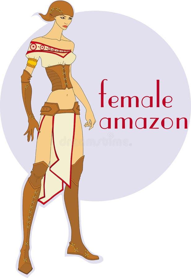 Amazon fêmea ilustração royalty free
