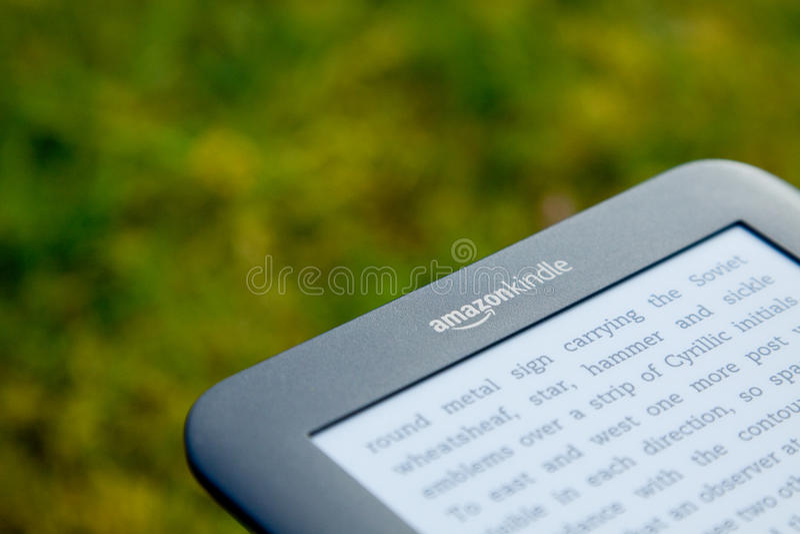Amazon inflama Ereader imagem de stock royalty free