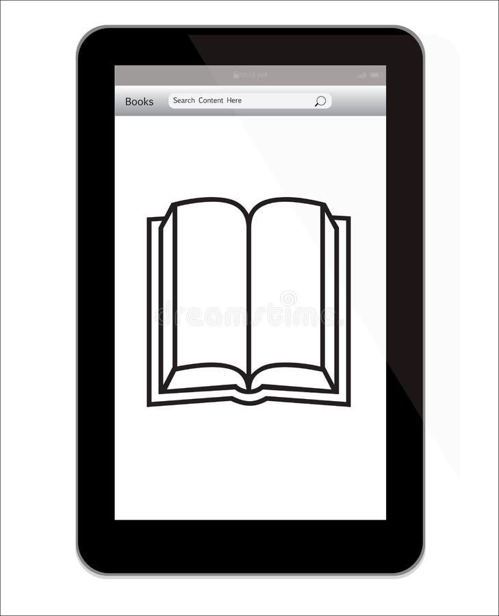 Amazon inflama a tabuleta do incêndio com ilustração de livro ilustração do vetor