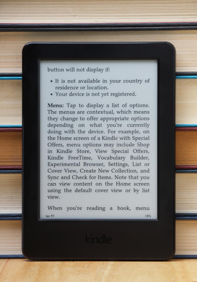 Amazon Kindle royalty free stock photos