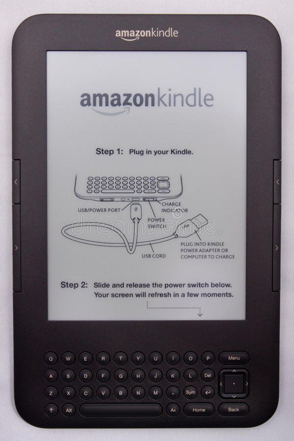 Download Amazon Kindle E-Reader editorial image. Image of internet - 19770760