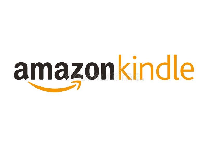 Amazon Kindlelogo stock illustrationer