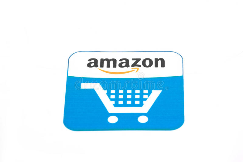 amazon logo fotografia stock