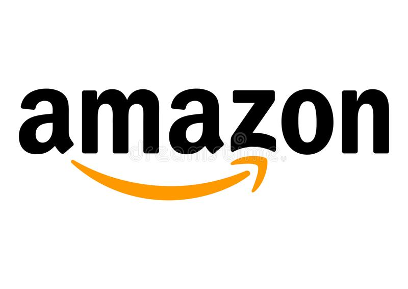 Amazon Logo. On a white background, vector format avaliable