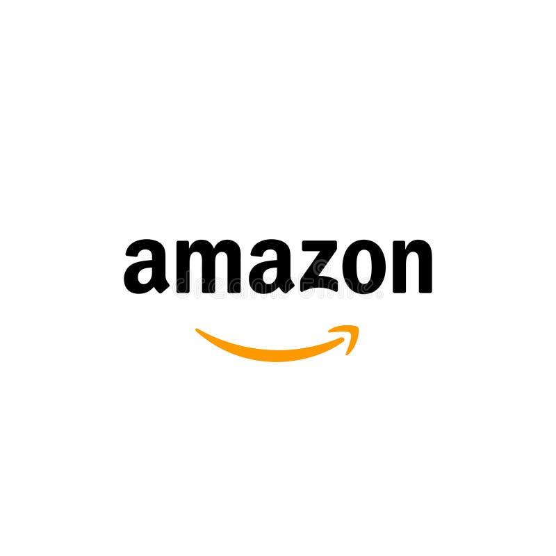 Amazon Logo Editorial Vector royalty free illustration