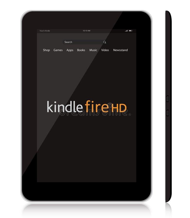 Amazon novo inflama a tabuleta do incêndio HD ilustração do vetor