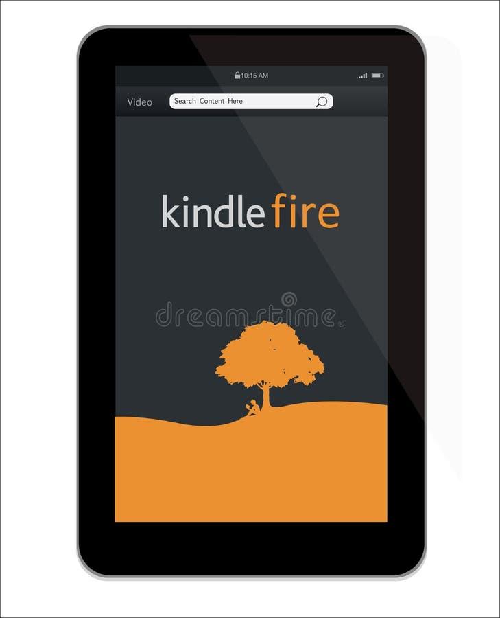 amazon ogień rozognia nową pastylkę ilustracja wektor