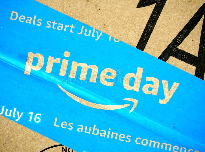 Amazon Prime dnia pude?ko fotografia royalty free