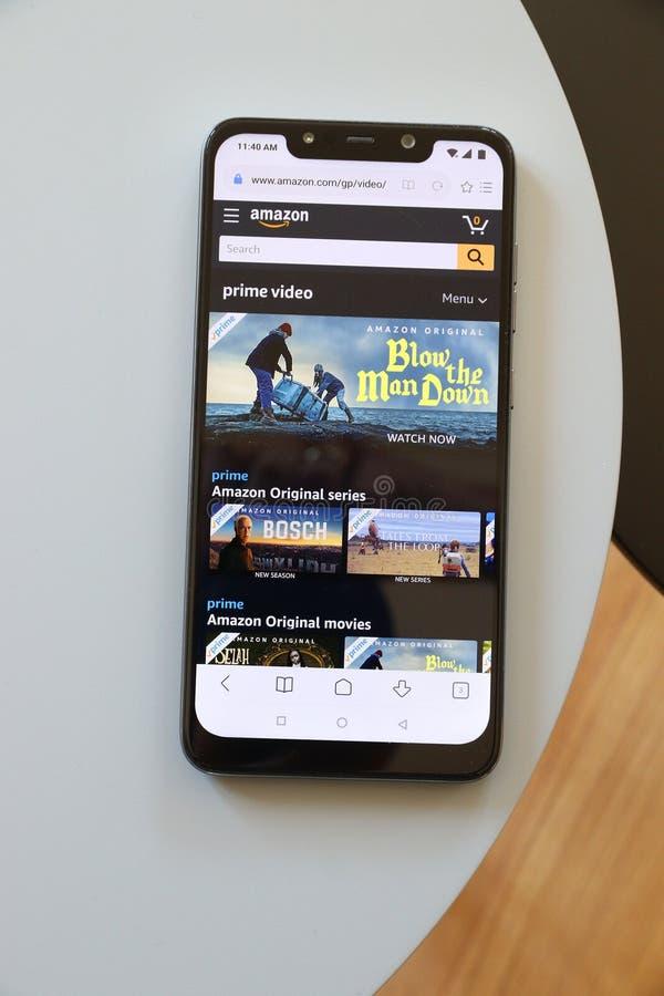 Amazon Prime Video-erbjudande arkivbilder