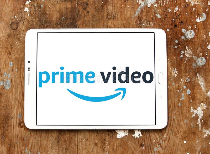 Amazon prime Video logo. Logo of Amazon prime Video on samsung tablet. Amazon Video is an Internet video on demand service that is developed, owned, and operated royalty free stock photo