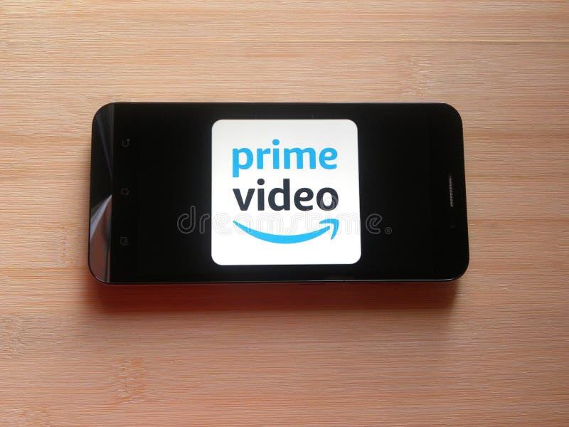 Amazon Prime wideo app fotografia stock