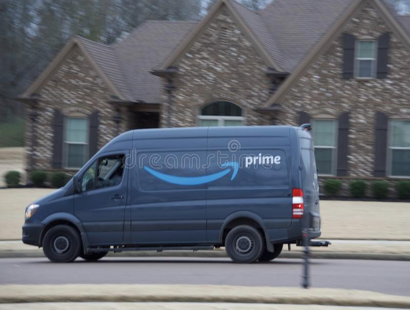 Amazon Primeleverans royaltyfria foton