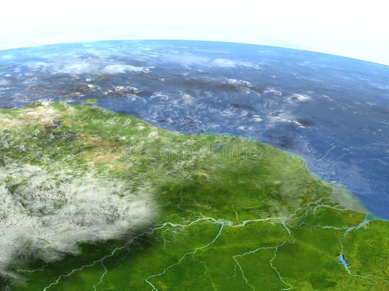 Amazonas-Delta auf Planet Erde vektor abbildung