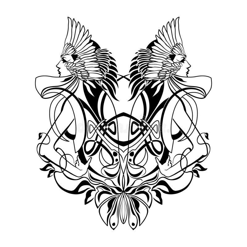 Amazonas-Emblem stock abbildung