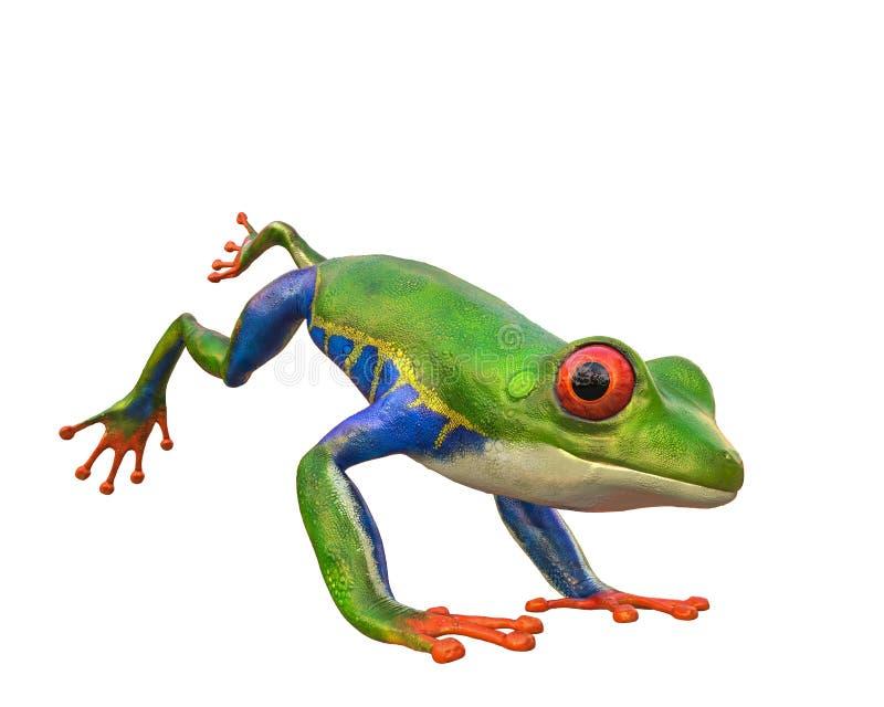 Amazonas-Frosch in einem weißen Hintergrund vektor abbildung