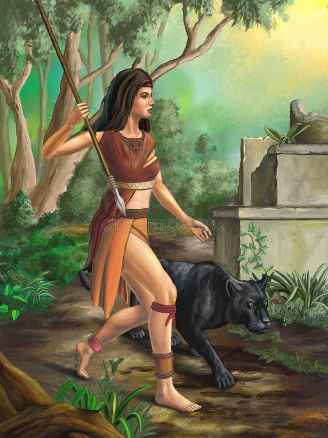 Amazonas-Krieger lizenzfreie abbildung
