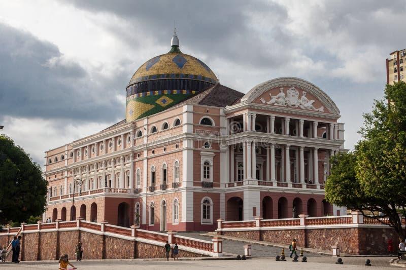 Amazonas Theater Manaus Brasilien stockfotos
