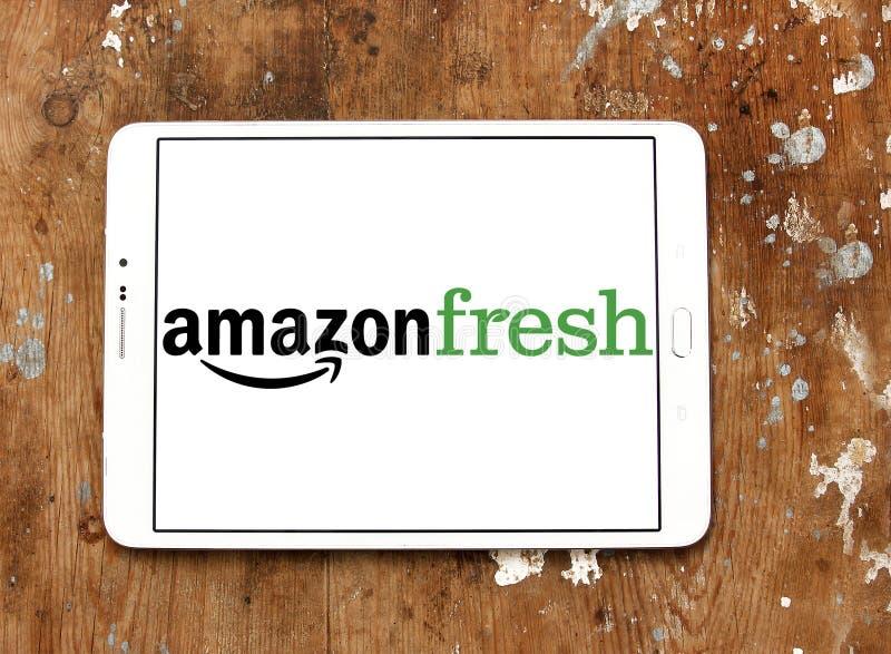 AmazonFresh-Lebensmittelgeschäft-Zustelldienstlogo stockbild