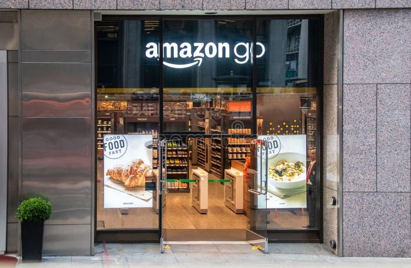 Amazonië gaat Opslag in San Francisco, Californië stock afbeeldingen