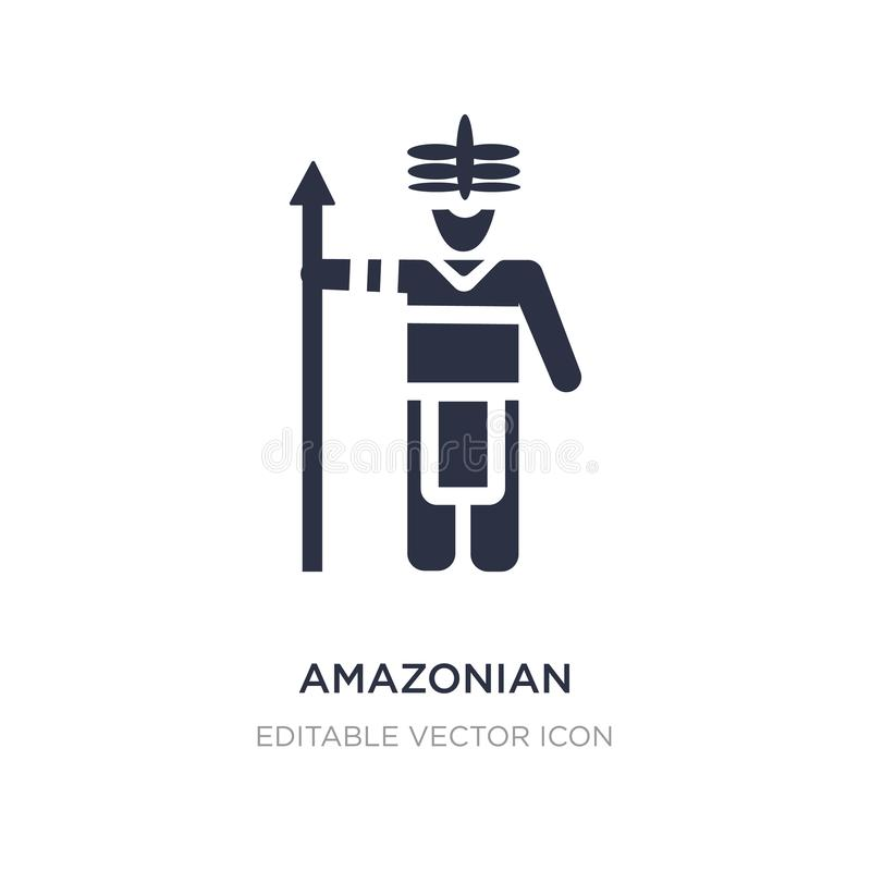 amazonian symbol på vit bakgrund Enkel beståndsdelillustration från folkbegrepp stock illustrationer