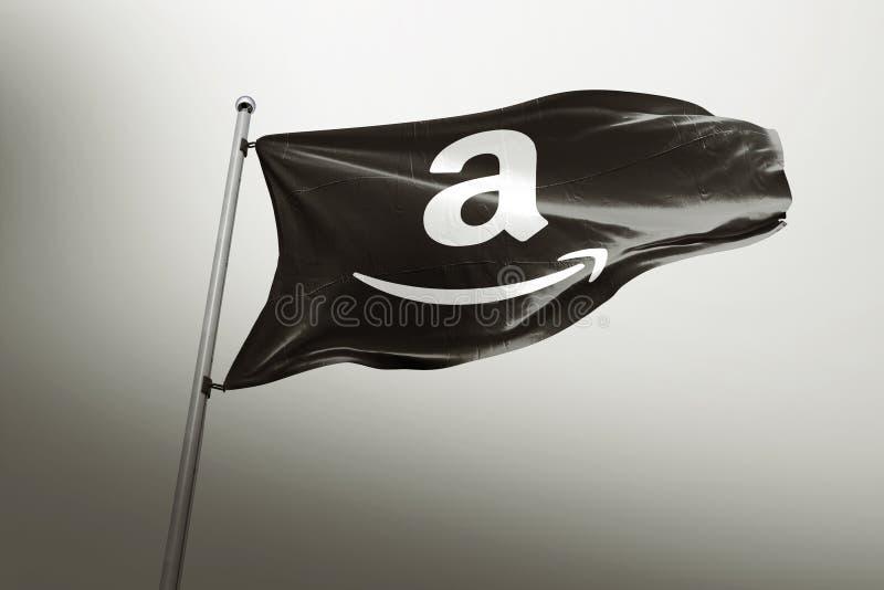 Amazonka photorealistic chorągwiany artykuł wstępny obraz royalty free
