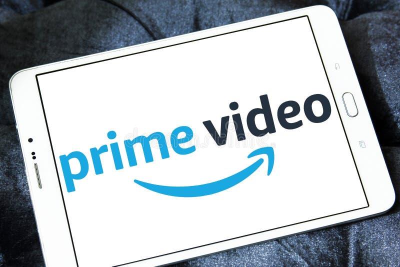 Amazonka pierwszorzędny Wideo logo zdjęcie stock