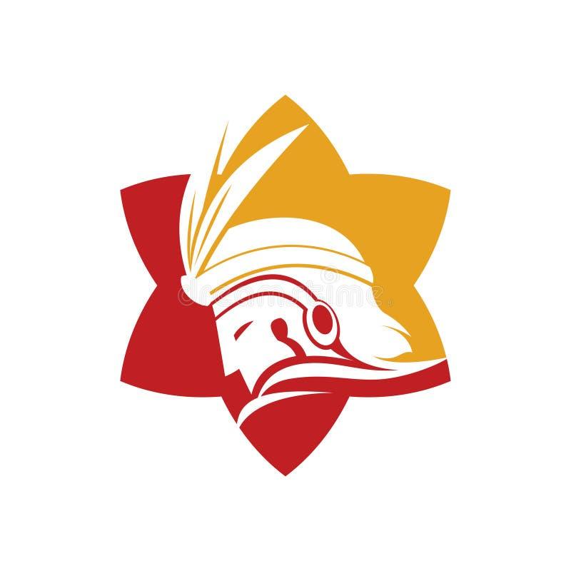 Amazonka rycerza wojownika gwiazdy Etniczny Odważny symbol royalty ilustracja